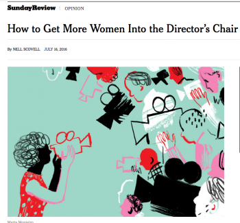 women in director's chair pic