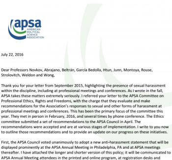 apsa ethics policy
