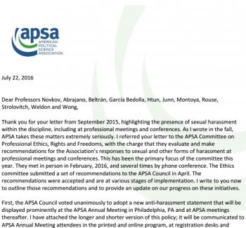 apsa ethics policy
