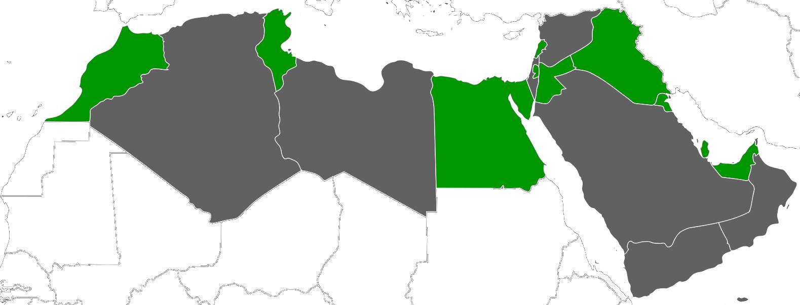 MENA alumni countries - blank
